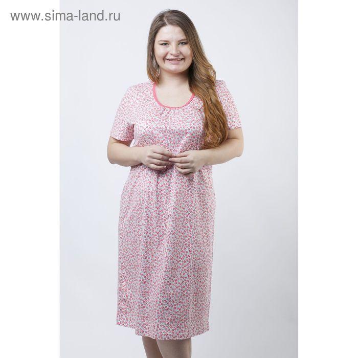 Сорочка женская ночная Р308142 розовый, рост 158-164 см, р-р 54