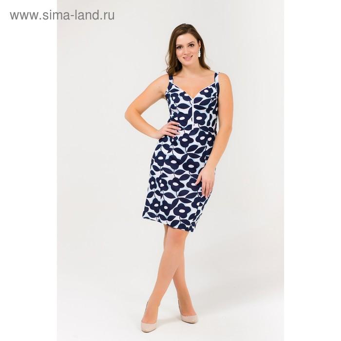 Платье женское Р708151 голубой, рост 170-176 см, р-р 58