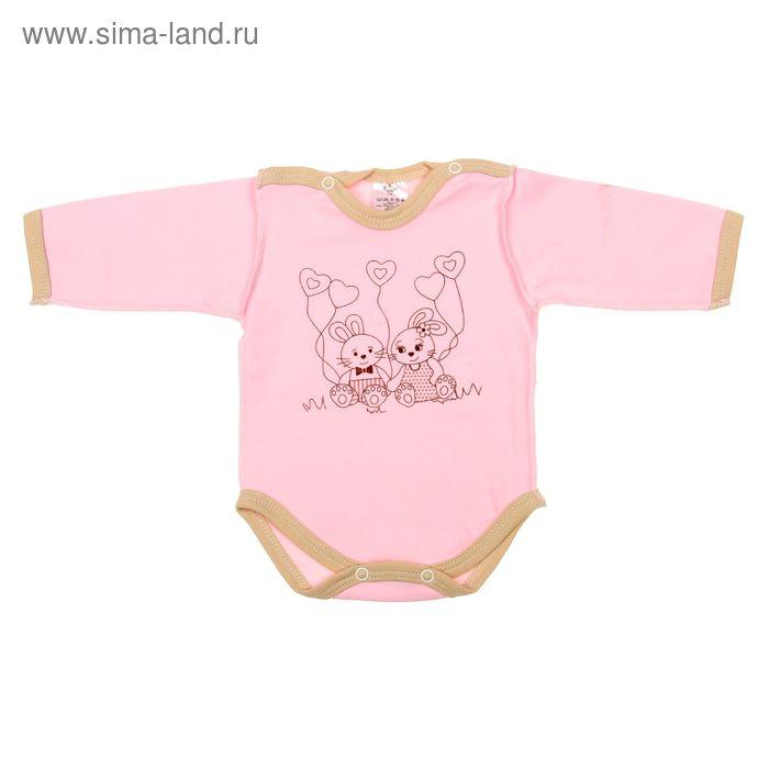 """Боди для девочки """"Зайка"""", рост 56 см (36), цвет розовый 3989"""