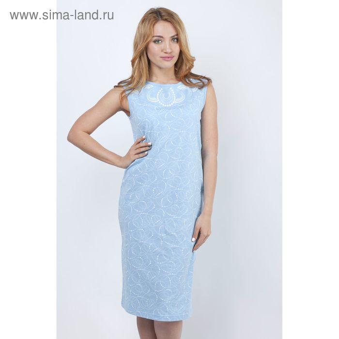 Сорочка женская ночная Р308047 голубой, рост 158-164 см, р-р 44