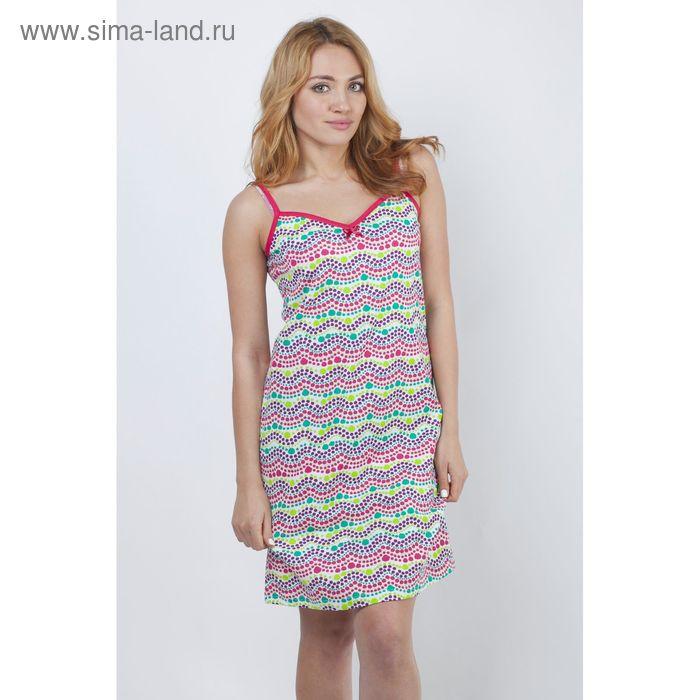 """Сорочка женская ночная """"Цветные волны"""" Р308090, рост 170-176 см, р-р 50"""