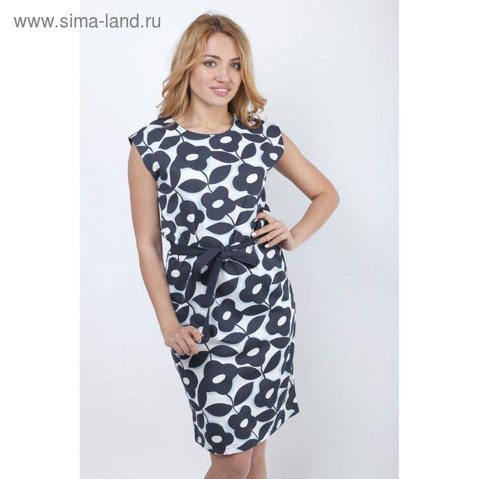 """Платье женское """"Гирлянды"""" Р707027, рост 158-164 см, р-р 54"""