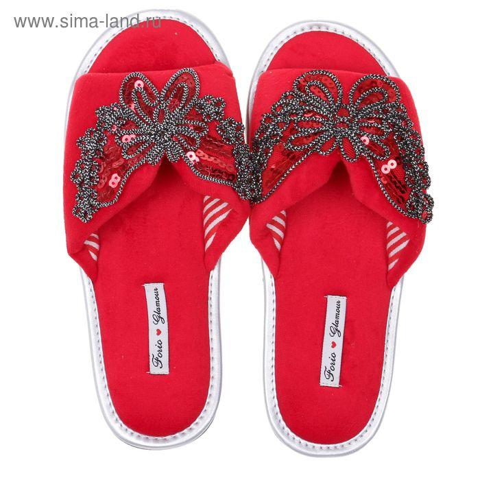 Тапочки домашние женские Forio, цвет красный, размер 36 (арт. 125-3366 Н)
