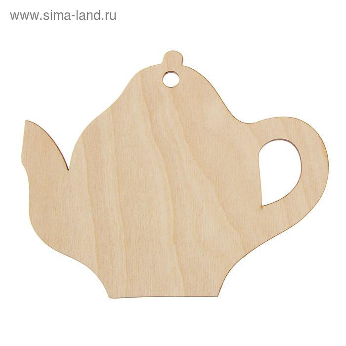 """Доска разделочная под роспись""""Чайник 1"""""""