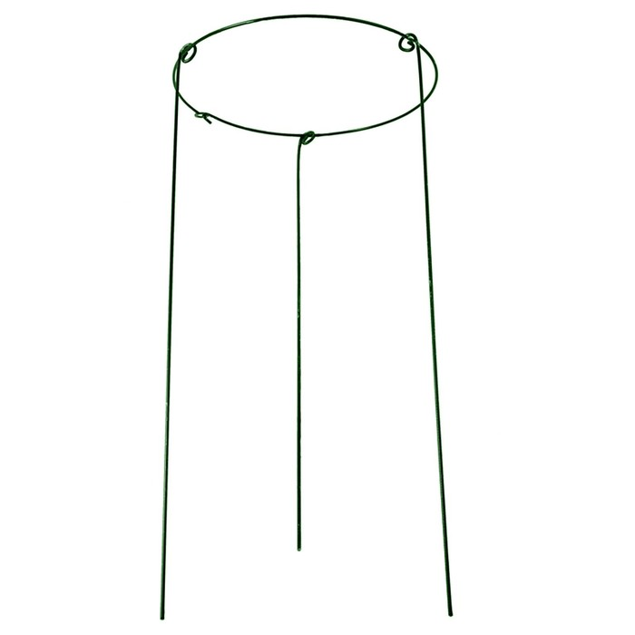 Кустодержатель, d=40 см, h=90 см, ножка d=0.3 см, металл, зелёный