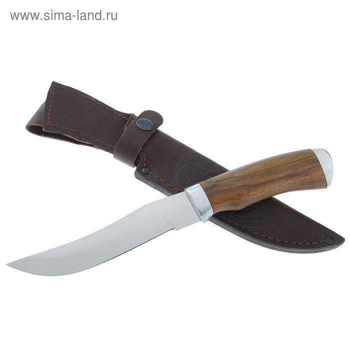 """Нож нескладной """"Грибник"""" СТ-27, г.Павлово, сталь 95Х18, рукоять-орех"""