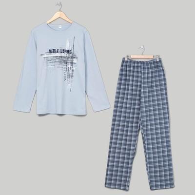 Комплект мужской (джемпер, брюки), размер 48, цвет серый (арт. 945)