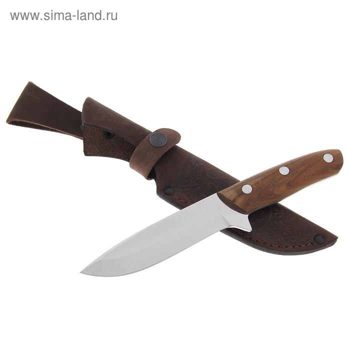 """Нож нескладной """"Дельфин"""" МР-6, г.Павлово, сталь 65Х13, рукоять-орех"""