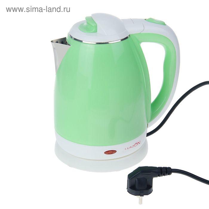 """Электрочайник """"LuazON"""" LPK-1809, 1500W, 1,8л, зелёный"""