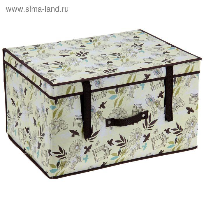 "Короб для хранения с крышкой 50х40х30 см ""Птицы"""