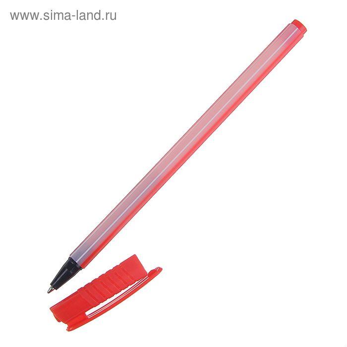 """Ручка шариковая """"Полоски"""" 0,5 мм, стержень красный, МИКС"""
