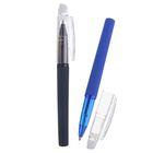 Ручка шариковая ПИШИ-СТИРАЙ 0,8мм стержень синий прорезиненый корпус МИКС