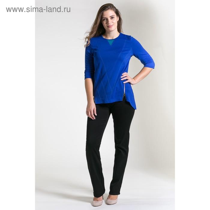 Туника женская 4609, размер 44, рост 164 см, цвет тёмно-синий/бирюза