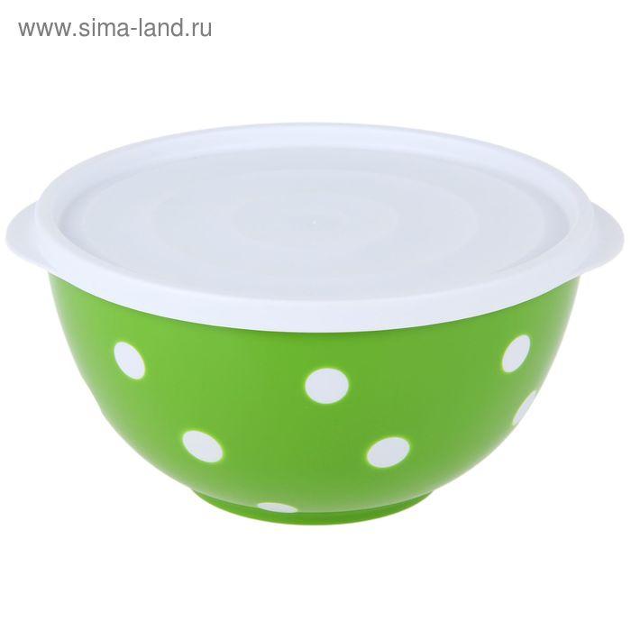 Салатник с крышкой 2 л Marusya, цвет салатовый