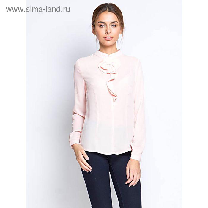 Блузка длинный рукав 15160,размер 46,рост 170 см,цвет персик