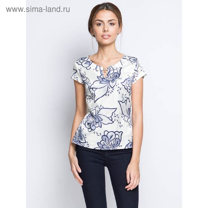 Блузка короткий рукав 15157-0.5,размер 44,рост 170 см, цвет сливки