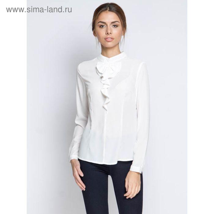 Блузка длинный рукав 15160,размер 42,рост 170 см,цвет белый