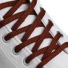 Шнурки для обуви плоские, 7мм, 130см, цвет коричневый