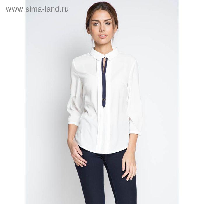 Блузка с рукавом 3/4, размер 50, рост 170 см, цвет сливки (арт. 15133-7 С+)