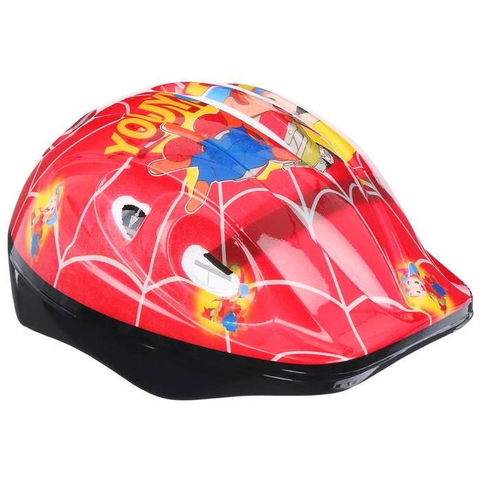 Шлем защитный OT-502 детский р S (52-54 см), цвет: красный