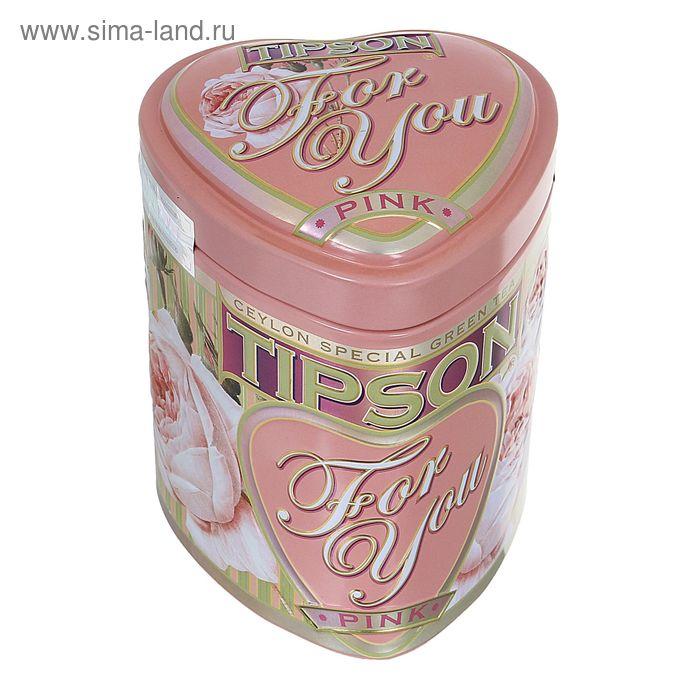 """Чай зеленый Tipson """"For You"""",  Pink, 75 г"""