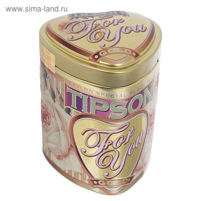 """Чай черный Tipson """"For You"""", Gold, 75 г"""