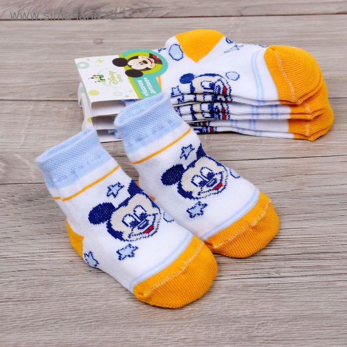 """Носки детские """"Дисней беби: Микки морячок"""", Микки Маус и друзья, 8-10 см, 6-9 мес., 100% хлопок"""