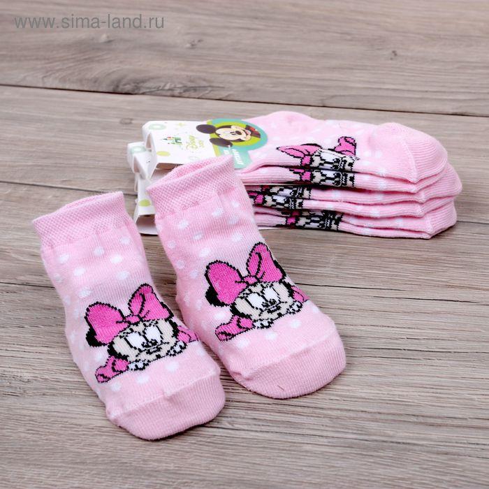"""Носки детские """"Дисней беби: Малышка Минни: горошек"""", Минни Маус, 6-8 см, 3-6 мес., 100% хлопок"""