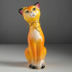 "Копилка ""Кошка Алиса"" малая, глянец, оранжевая"