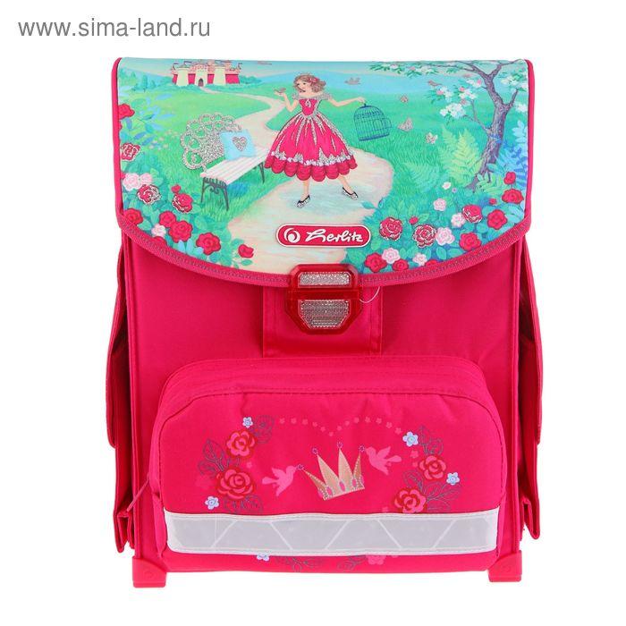 Ранец на замке Herlitz SMART 38*30*21 эргономичная спинка, для девочки, Princess Rosa, 2 отеления