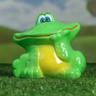 """Садовая фигура """"Улыбающийся лягушонок"""" зелёная, микс"""