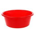 """Таз пластиковый 4 л """"Кливия"""", цвет красный"""
