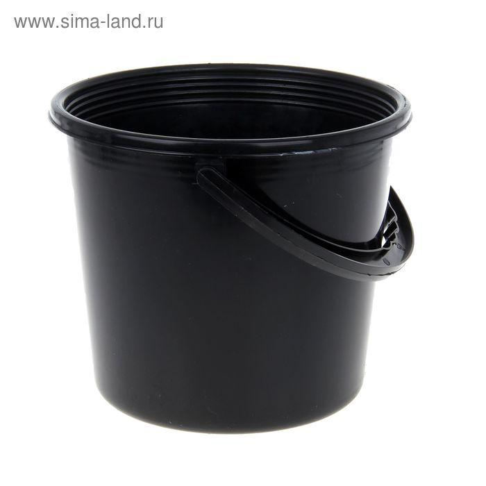 Ведро 5 л, цвет черный