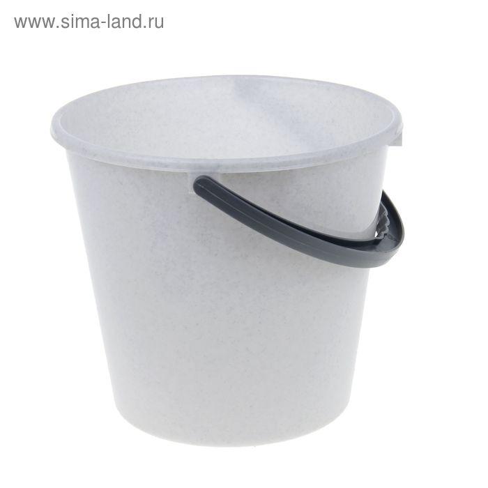 """Ведро пластиковое 7 л """"Примула"""", цвет мраморный"""