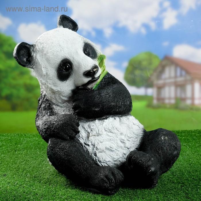 """Садовая фигура """"Панда с бамбуком"""""""