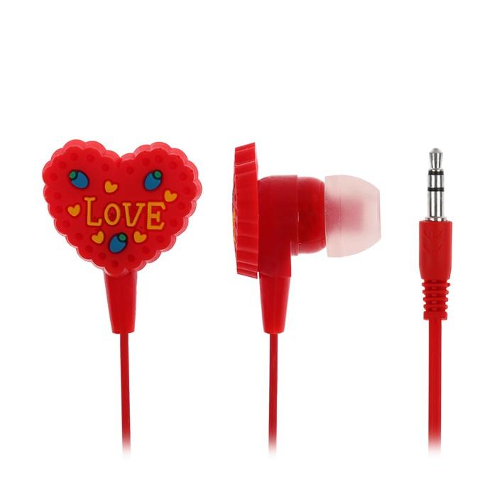 Наушники Luazon LV-107 Love, вакуумные, красные