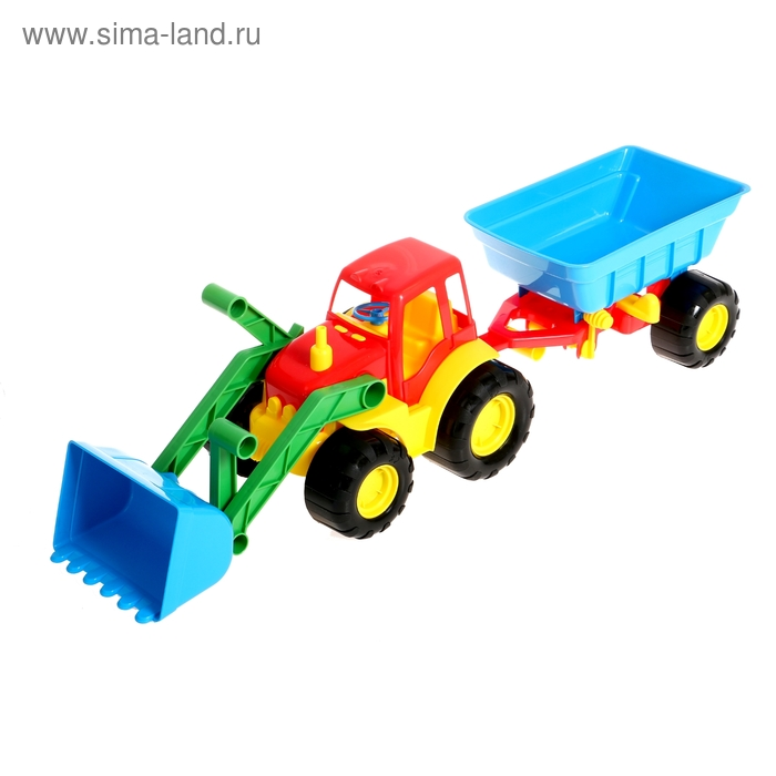 Трактор ACTIVE с ковшом и прицепом