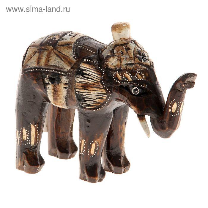 """Деревянная статуэтка """"Слон индийский"""""""