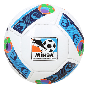 Мяч футбольный Minsa, 32 панели, PVC, 4 подслоя, машинная сшивка, размер 5