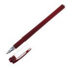 Ручка гелевая 0,5 мм красная, корпус бордовый матовый Softtouch
