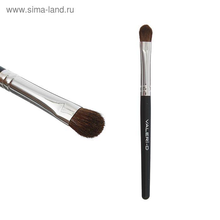 """Кисть для макияжа """"Пони"""", лепесток, на короткой ручке"""
