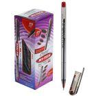 Ручка шариковая 0,7 мм стержень красный, корпус прозрачный, игольчатый пишущий узел MY-TECH