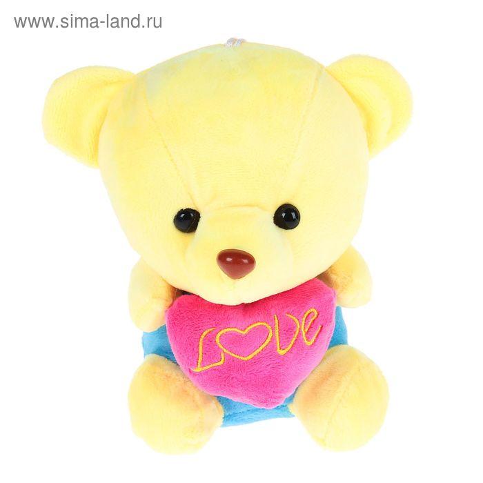 """Мягкая игрушка """"Медведь с сердцем"""", МИКС"""