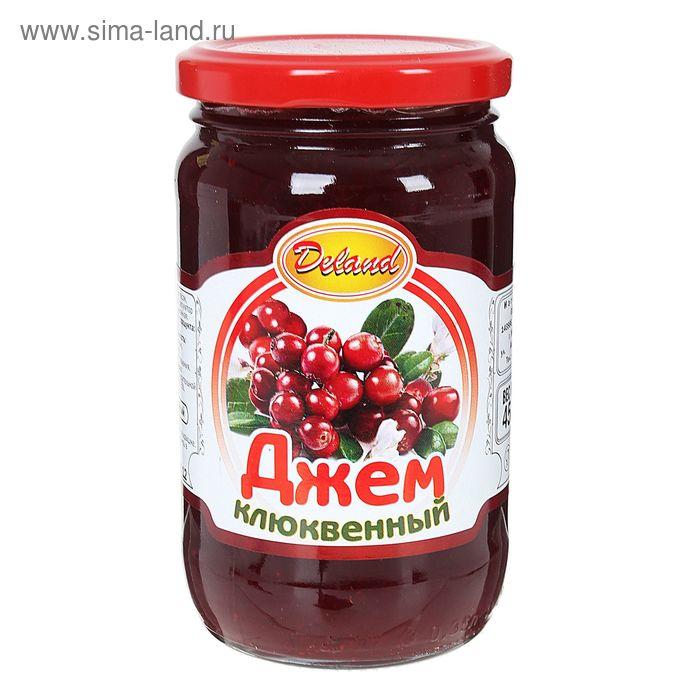 """Джем  Клюквенный ТМ """"Deland"""", 450 г"""