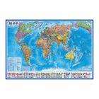 Карта мира Политическая, 1:35М, 101х61см, ламинированная, настенная