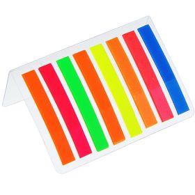 Блок-закладки с липким краем пластик 10 мм*44 мм, 20 л, 8 цв, в блистере, МИКС Ош