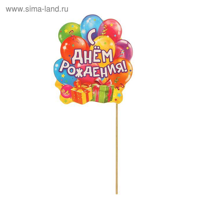 """Фотобутафория на палочке """"С Днем Рождения!"""""""