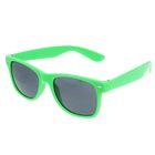 Очки солнцезащитные Wayfarer, оправа зелёная с овалами, линзы чёрные