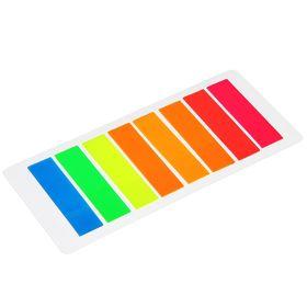 Блок-закладка с липким краем пластик 15 л, 8 цв, флуорисцентный, в блистере, МИКС Ош