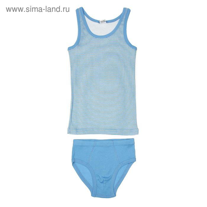Комплект для мальчика (майка, трусы), рост 140 см (72), цвет синий (арт. CAJ 3299)